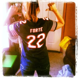 Showing off my Bears jersey ;)